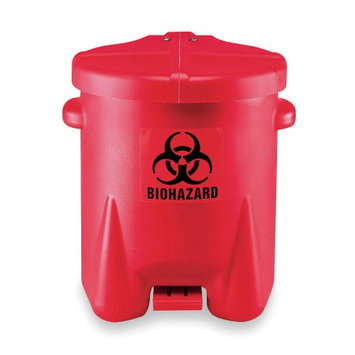 Eagle Manufacturing Company 1/2 X 13 1/2 X 16 Red 6 Gallon Biohazard Waste Cans