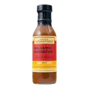 Davids Unforgettables BWA82781 6 x 12 oz Balsamic BBQ Spicy Sauce