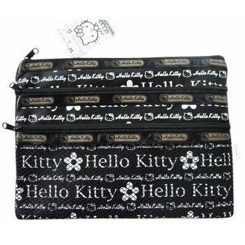 Hello Kitty Sanrio Cosmetics Bag Pouch - Flowers Design