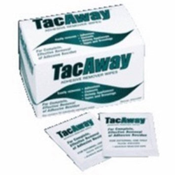 TacAway Adhesive Remover Wipes 50 Count 6 Pack