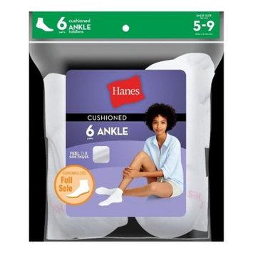 Hanes® Women's 6pk Ankle Cushion Foot Casual Socks