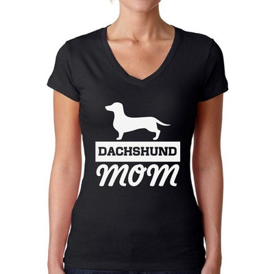 Awkward Styles Women's Dachshund Mom Dog Lover V-neck T-shirt Dachsie