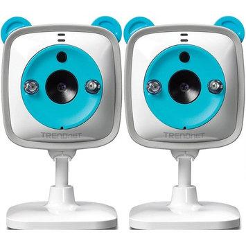 TRENDnet 2-Pack Cloud Wi-Fi Baby Cam 720p HD, Surveillance, Security Camera (TV-IP745SIC)
