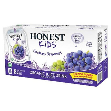 HONEST Kids Organic Juice Drink, Goodness Grapeness, 6.75 fl oz Pouches (Pack of 32)
