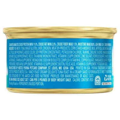 Fancy Feast® Creamy Delights Tuna Feast in a Creamy Sauce Wet Cat Food 3oz