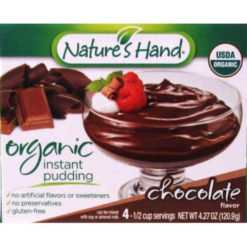 Jel Sert NATURE'S HAND ORGANIC CHOCOLATE PUDDING 4 SERVE
