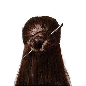 FANTAC CRAFTS Vintage Women Girl Handmade Ebony Simple Hair Stick Accessories Hairpin Chignon Bun Updo Pins Chopstick Style Elegant Beauty
