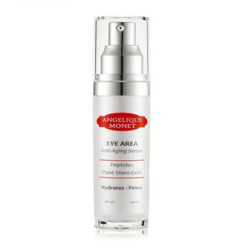 Angelique Monet Anti Aging Eye Serum w Peptides Natural Plant Stem Cells and Vitamin C 1oz