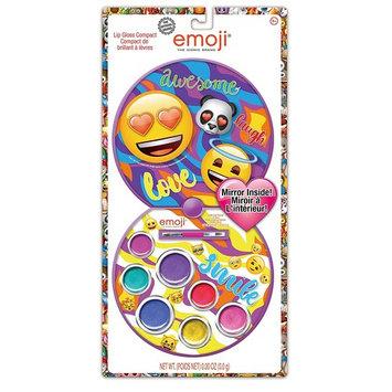 Townley Girl Emoji Cosmetic and Hair Set with Lip Gloss, Nail Polish, Hair Ties, Brush and Mirror