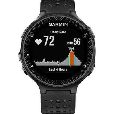 Garmin - Forerunner 235 GPS Running Watch - Black/Gray