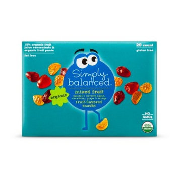 Mixed Fruit Flavored Snacks - 20ct - Simply Balanced™