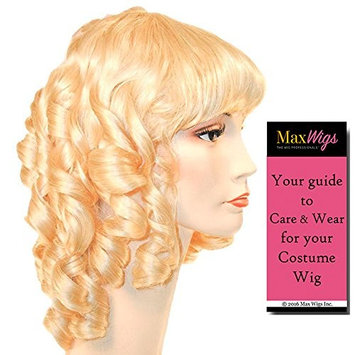 Little Women Color Light BLONDE - Lacey Wigs Style 19th Century Medieval Maiden Royal Ball Long CurlsBundle with MaxWigs Costume Wig Care Guide