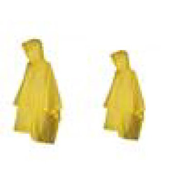 totes ISOTONER Unisex Rain Poncho with Hood (Pack of 2), Yellow/Yellow