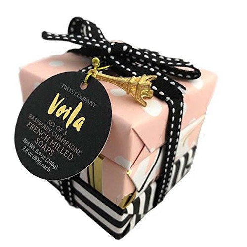 Two's Company Voila Gift Soap Set (Raspberry Champagne)