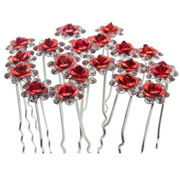 Nestarfactory Rose U-sharped Design Collection Metal Hiar Pins Pack of 20 with Exclusive Gift