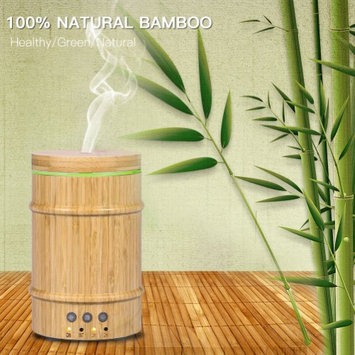 Youthink Real Bamboo Essential Oil Diffuser,150ml Ultrasonic Aromatherapy Humidifier with 7 Colorful LED Lights and Waterless Auto Shut-off for Home Office Yoga Spa Baby Room (Bamboo Diffuser)