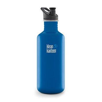 Klean Kanteen Classic Water Bottle with Sport Cap, 18-Ounce, Blue Planet