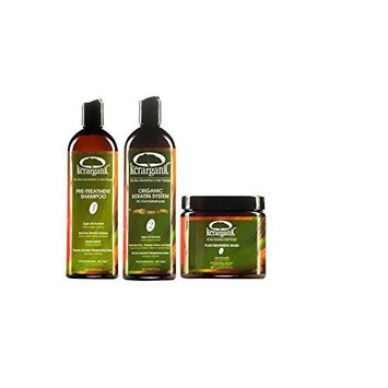 Keratin Treatment Set - Organic - Formaldehyde Free - 16 Fl Oz by KERARGANIC by KERARGANIC