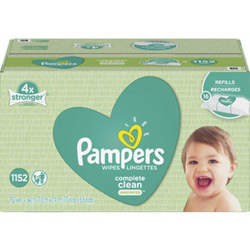 Pampers Complete Clean Unscented Baby Wipes, 1,152 ct.