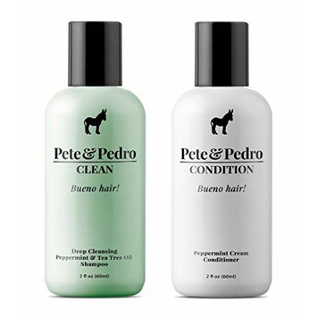 Pete and Pedro 2 oz Clean & 2 oz Condition Travel Size Combo Pack