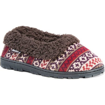 Reliable Of Milwaukee MUK LUKS Women's Patterned Indoor/Outdoor Slipper Burgundy Size L M