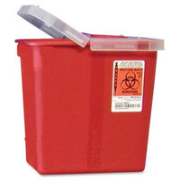Covidien Kendall Sharps Containers with Hinged Lid, Red