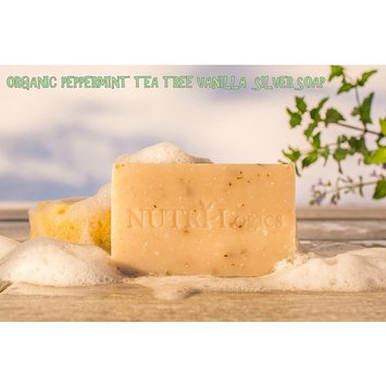 NUTRI-Logics' BEST - PEPPERMINT TEA TREE VANILLA COLLOIDAL SILVER SOAP - 6.1 OZ BAR -USDA CERTIFIED ORGANIC - INFUSED with REFRESHING PEPPERMINT AND OILS OF VANILLA- ANTIBACTERIAL/ANTIFUNGAL
