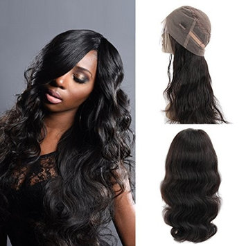 360 Lace Frontal Wig Peruvian Body Wave Human Hair Wigs Pre-Plucked Hairline 130% Density Natural Color 360 Lace Wig Human Hair with Baby Hair for Black Women