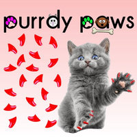 Purrdy Paws Soft Nail Caps for Cats 40pk - Neon Red Kitten