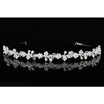 Elegant Bridal Floral Rhinestone Crystal Prom Wedding Headband Tiara T908