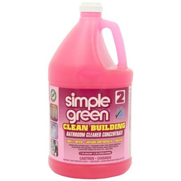 Simple Green 11101CT Clean Building Bathroom Cleaner Concentrate, Unscented, 1gal Bottle