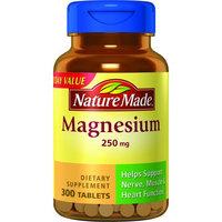Nature Made Magnesium Tablets 250 mg, 300 Ct Bonus Bottle
