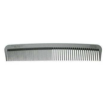 Chicago Comb Model 6 Carbon Fiber, Made in USA, fine & wide tines, ultra smooth, strong & light, anti-static, heat-resistant, 7