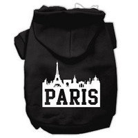 Mirage Pet Products Paris Skyline Screen Print Pet Hoodies Black Size Med (12)