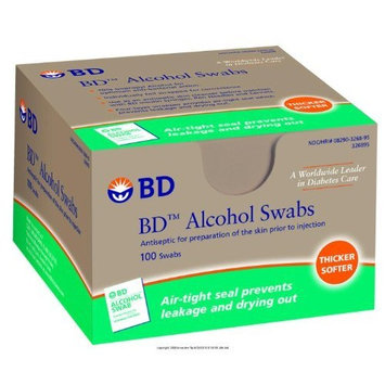 BD Alcohol Swabs 100 Each