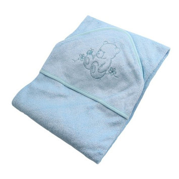 """GFTSTORE 70%bamboo+30%cotton baby hooded towel-35""""35""""-light Blue"""