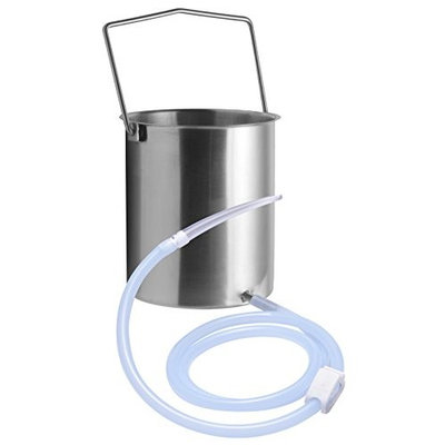 Cleanstream Premium Stainless Steel Enema Bucket Kit with Silicone Hose, 1 Count