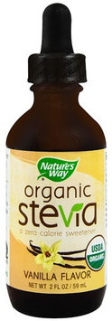 Natures Nature's Way Organic Stevia Vanilla - 2 fl oz pack of 3