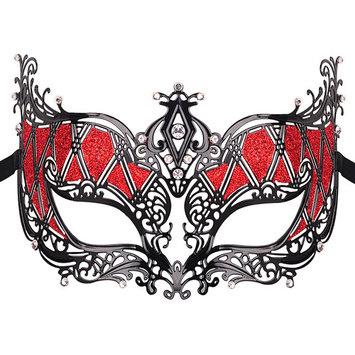 Metal Masquerade Mask, Coxeer Elegant Princess Luxury Metal Venetian Pretty Party Evening Prom Masquerade Mask