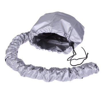 Tonewear Improved Deluxe Softhood Bonnet Hair Dryer Attachment (Silver)