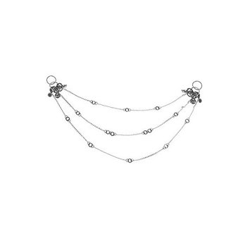 Chain Circles Style Hematite-base metal Hair Clips Comb Hair Accessories
