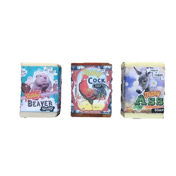 Filthy Farm Soaps set of 3 (Filthy Ass, Beaver and Cock)