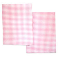 Seed Sprout By Sleeping Partners Seed Sprout Gingham Changing Pad Covers - Pink