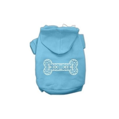 Mirage Pet Products Henna Bone Screen Print Pet Hoodies Baby Blue Size Lg (14)