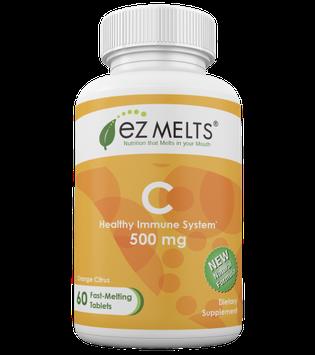 EZ Melts - Vitamin C Natural Orange Flavor 500 mg. - 60 Tablets