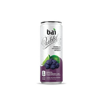 Bai Bubbles, Sparkling Water, Bogota Blackberry Lime, Antioxidant Infused Drinks, 11.5 Fluid Ounce Cans, 6 count