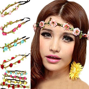 Polytree 7pcs Boho Style Flower Women Girls Hair Band Headband Festival Party Wedding