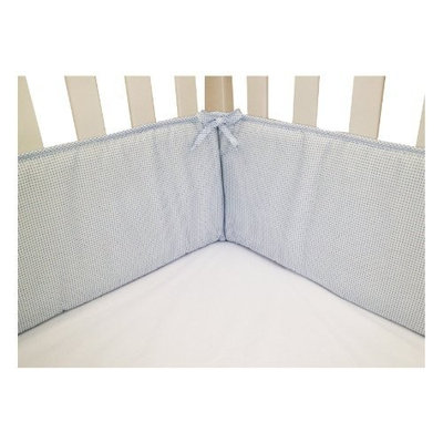 American Baby Company Cotton Percale Crib Bumper, Aqua