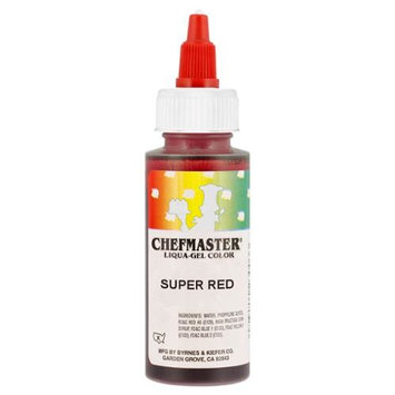 Chefmaster by US Cake Supply 2.3-Ounce Super Red Liqua-Gel Cake Food Coloring
