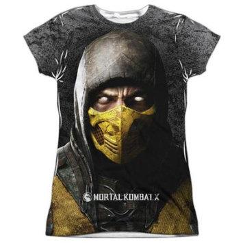 Mortal Kombat X Finish Him Juniors Sublimation Shirt White XL